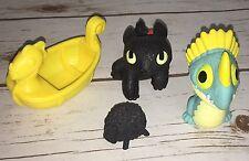 How to Train Your Dragon Bath Toys Toothless Stormfly Viking Ship Black Sheep