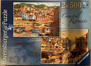 Ravensburger: 2 x 500-Piece Jigsaw Puzzles 'COASTAL RETREATS'  **Free Postage**