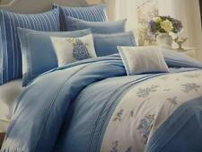NIP Laura Ashley Emma White/Blue Floral Full/Queen Duvet Cover Set 3pc
