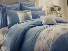 NIP Laura Ashley Emma White/Blue Floral Full/Queen Duvet Cover Set 3pc