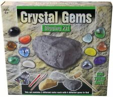 Crystal Gems Digging Excavation Kit Gemstones Set - Perfect for Children 6 yrs+
