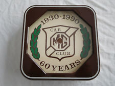 Vintage MG Car Club Wall Clock Face Frame
