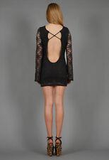 $298 NIGHTCAP BLACK LACE OPEN BACK PRISCILA DRESS 2 SM