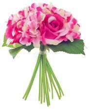 Rose artificielle Rose et Hydrangea Bouquet mix