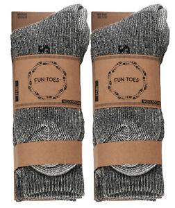 Men heavy duty PRIME Merino Wool Socks 4 Pack for winter ski & trailing