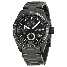 Fossil Men's CH2601 'Decker' Chronograph Black Stainless steel Watch