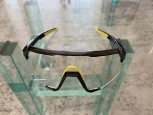 100% Sunglasses - S3 gloss black with neon yellow accents photochromic - new