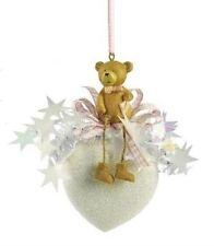 Weiste Teddy Bear on Heart Christmas Tree Decoration  (pink) NEW  19676