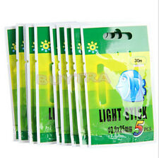50 Pcs Night Fluorescent Float Lightstick Glow Stick for Fishing TEUS
