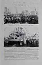 1897 BOER WAR THE FRENCH NAVY AMIRAL DUPERRE SUCHET REDOUTABLE SEAMEN SAILORS