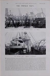 1897 Boer War Die Französisch Marineblau Admiral Duperre Suchet Redoutable