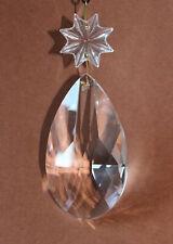 Lüster Kristall Tropfen 86mm mit Facetten handschliff + Stern Kronleuchter Lampe