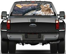 Wolf, Wolves in Winter  Rear Window Graphic Decal  Truck