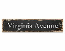 SP0577 VIRGINIA AVENUE Street Sign Home Cafe Store Shop Bar Chic Decor Gift
