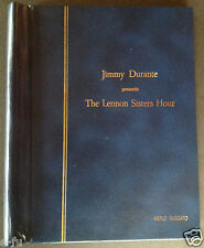 Jimmy Durante Lennon Sisters 1969 Script MERLE HAGGARD Bonnie Owens collection