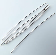 """50 Headpins Silver plated thin soft 50 mm or 2"""" long. Top quality findings"""
