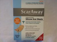 ScarAway  Silicone Scar Sheets  Professional Grade for  2 month supply