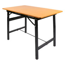 Heavy-Duty Workbench Steel Frame Garage Work Table Hardwood Table Top Solid New