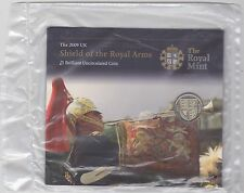 SEALED 2009 £1 COIN IN ROYAL MINT FLATPACK SHIELD OF THE ROYAL ARMS