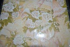 Vintage Pastel Peach WEDDING Gift Wrap ROSES BELLS Pleasant Thoughts Sealed!