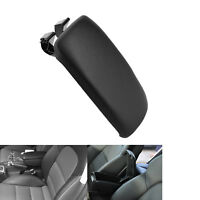 Black Soft Leather Center Console Armrest Cover Lid For Audi A3 8P 2003-2012