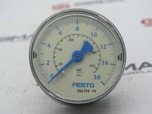 Festo 356759 Pressure Gauge 0-16bar/0-230psi