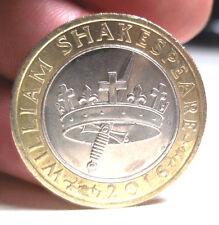 2016 William Shakespeare La storia della corona e pugnale £ 2 due Pound Coin. circolato