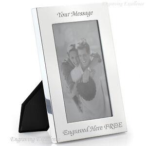 "Personalised Photo Frame 7"" x 5"" FREE Engraving Wedding Christening Present Gift"