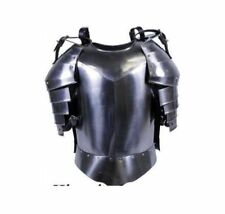 MEDIEVAL GOTHIC FANTASY Shiny Metal Shoulder Guard WARRIOR jacket Halloween Gift