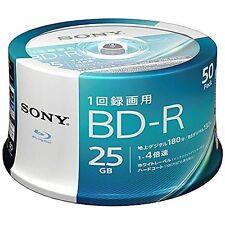 50 Sony Blu-Ray Blank Media Disc 25gb BD-R 4x Printable bluray