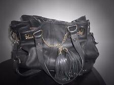 Gorgeous Ladies handbag designer bag Dune in black leather with gold trim
