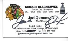 STANLEY CUP CHAMPION HEAD COACH JOEL QUENNEVILLE SIGNED BUSINESS CARD