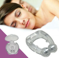 Anti Snoring Nose Clip Silicone Magnetic Stop Snore Sleep Tray Sleeping Aid Aids