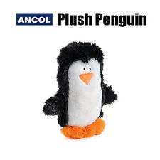 NEW Ancol Small Dog Puppy Soft Plush Squeaky Penguin Cute Cuddly Toy + Squeaker