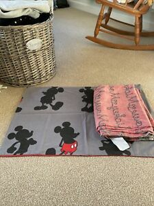 Mickey Mouse Single Duvet Set Black/red/grey