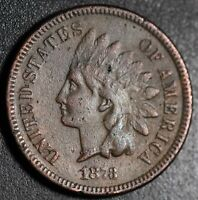 1873 INDIAN HEAD CENT - With LIBERTY - VF VERY FINE Details *CLOSED 3* RARE!