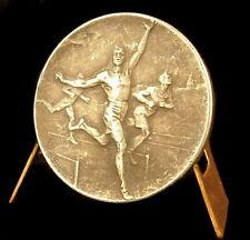 Medaille running course à pied 100 m Sport sc Huguenin 40 mm medal