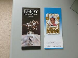1990 Santa Anita Derby Mr. Frisky & Shoe's Last Ride Horse Racing Programs