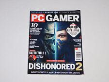 PC Gamer Magazine Aug 2016 Dishonored 2 Warhammer Battlefield Mafia Deus Ex +++