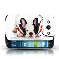 Stuff4 Hülle/Case für Samsung Galaxy S3/SIII/Köpfhörer Hund/Lustige Tiere