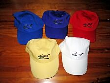 Lot of Five (5) New Ladies Greg Norman Golf Hats - Yellow White Red Purple Blue
