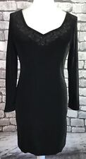 Vintage Laura Ashley Velours Noir Robe UK 12 Party Formal Occasion Cruise
