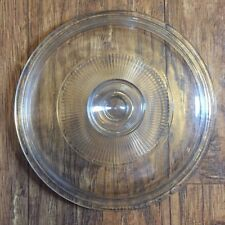 """PYREX REPLACEMENT LID Corning Ware CLEAR GLASS 7-3/4"""" Round G5C Casserole Ribbed"""