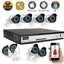 HD 8CH 720P HDMI AHD DVR 1500TVL IR-CUT Outdoor CCTV Home Security Camera System