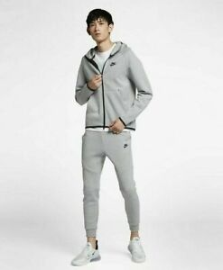 "NIKE TECH FLEECE MEN'S TRACKSUIT ""GREY HEATH"" (928483 063/ 805162 063) SIZE XS-L"