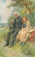 DICKENS:  Dickens Characters-3-H.COPPING -TUCK 'Oilette' 3407 Postcard