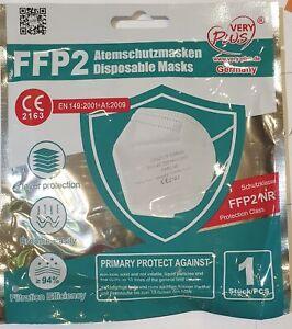 10 X FFP2 Masken Mundschutz CE Zertifiziert einzeln verpackt