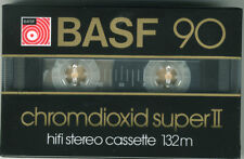 10 BASF 90 CR chromdioxid SUPER 2, hifi stereo Cassetten 132m Orginal verpackt,
