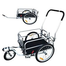 20 in. Booyah Strollers 2 in 1 Cargo Utility Stroller and Bicycle Trailer Chrome