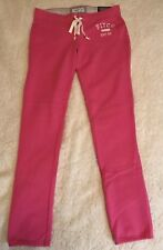 NWT Women's Abercrombie & Fitch 1892 Super Skinny Banded Sweatpants  Pink,  M